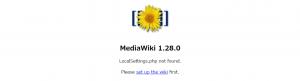 MediaWikiセットアップ